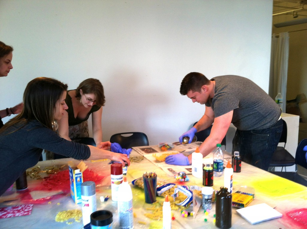 Julia, Tiffany, Rachel, and George, hard at work(photo by Julia Buntaine)