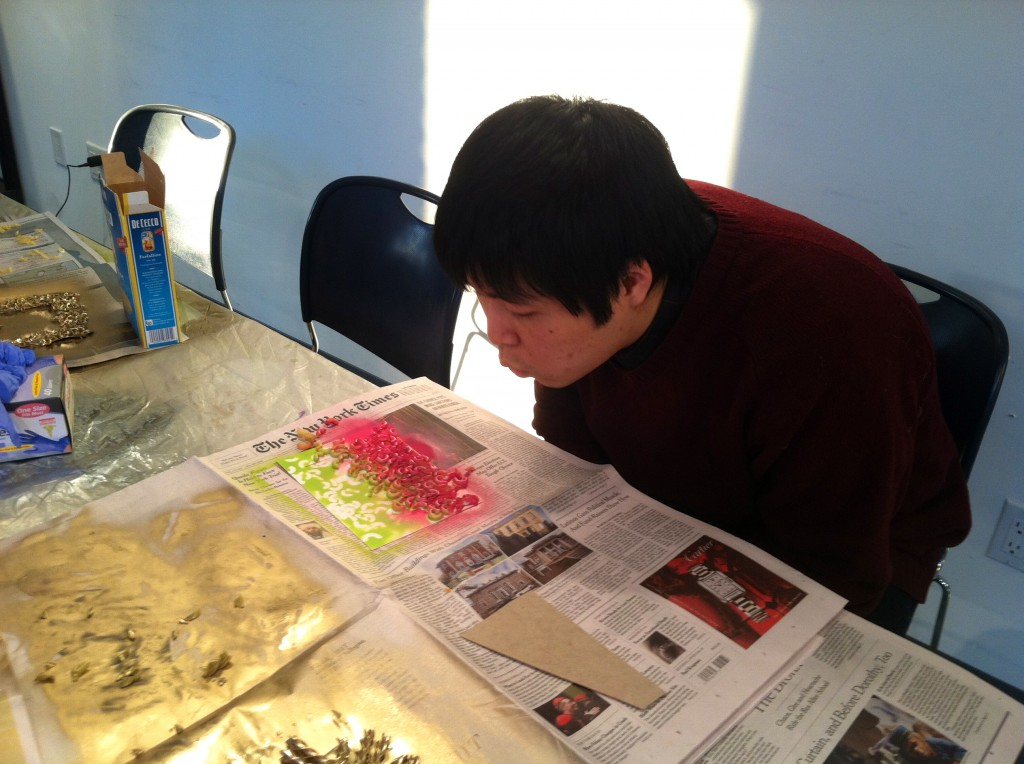 ShinYoung, hoping his glue is drying