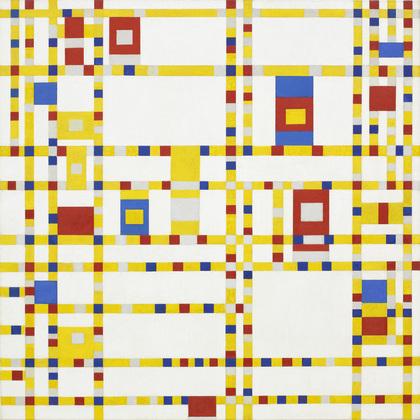 Piet Mondrian Broadway Boogie Woogie, 1942-43