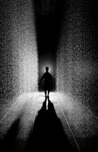 Random International's Rain Room (photo by the artist)