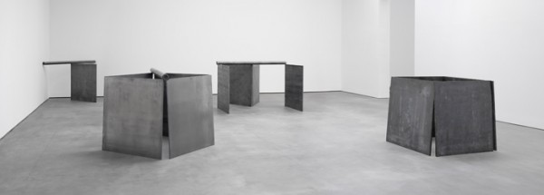 Installation View, Richard Serra, including One Ton Prop (House of Cards) 1969