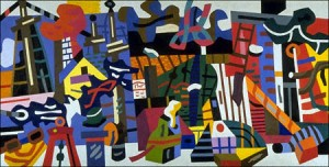 Stuart Davis Swing Landscape